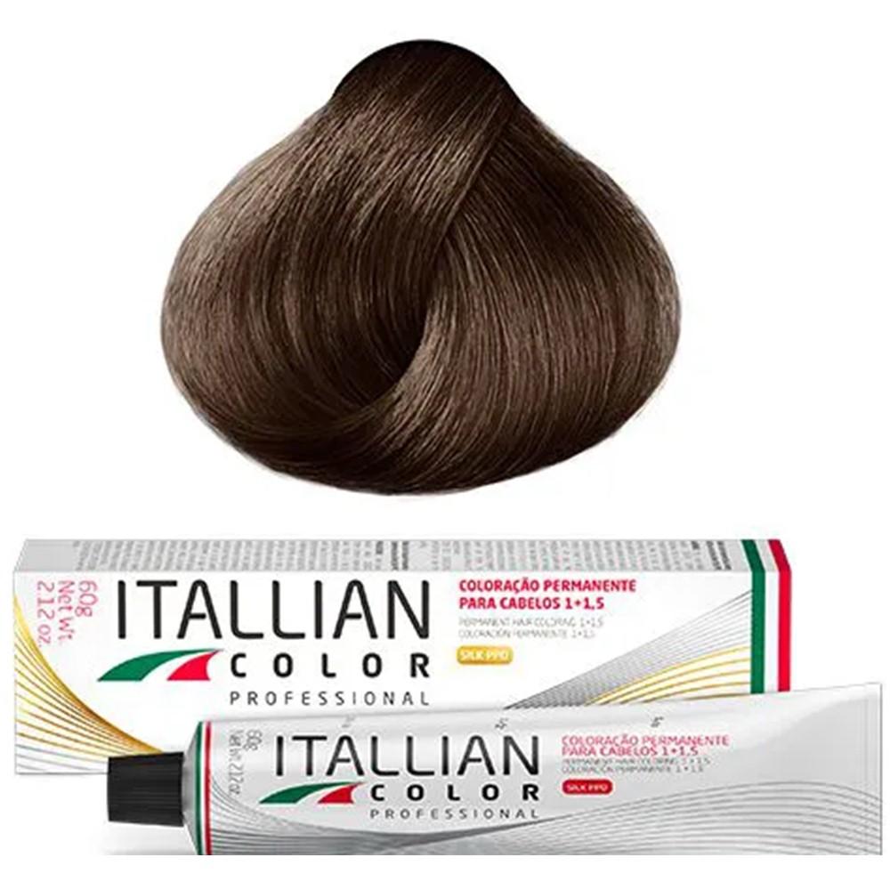 Coloração Profissional Chocolate Claro 7.7 (77) Italian Color 60g