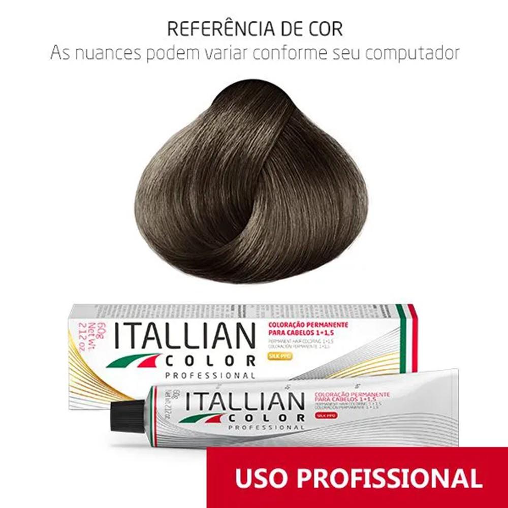 Coloração Profissional Louro Cinza 7.1 (17) Itallian Color 60g