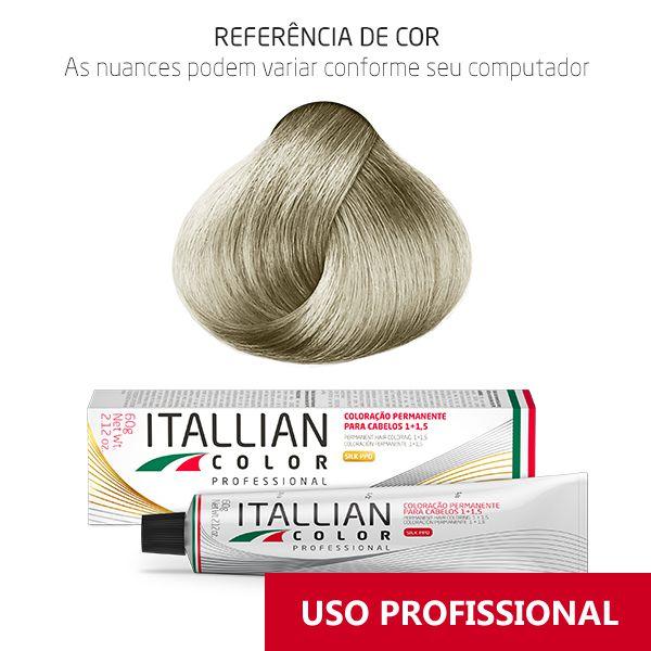 Coloração Profissional Louro Clarissimo Frio Intenso 12.2 (102s) Itallian Color 60g