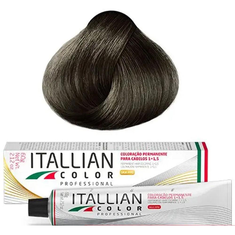 Coloração Profissional Louro Escuro Cinza 6.1 (16) Itallian Color 60g