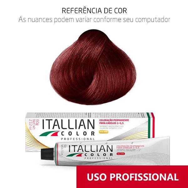 Coloração Profissional Louro Vermelho Fogo 7.66 (766) Itallian Color 60g