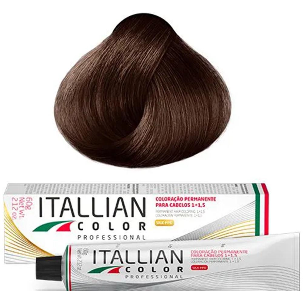 Coloração Profissional Marrom Escuro Cobre 5.34 (543) Itallian Color 60g