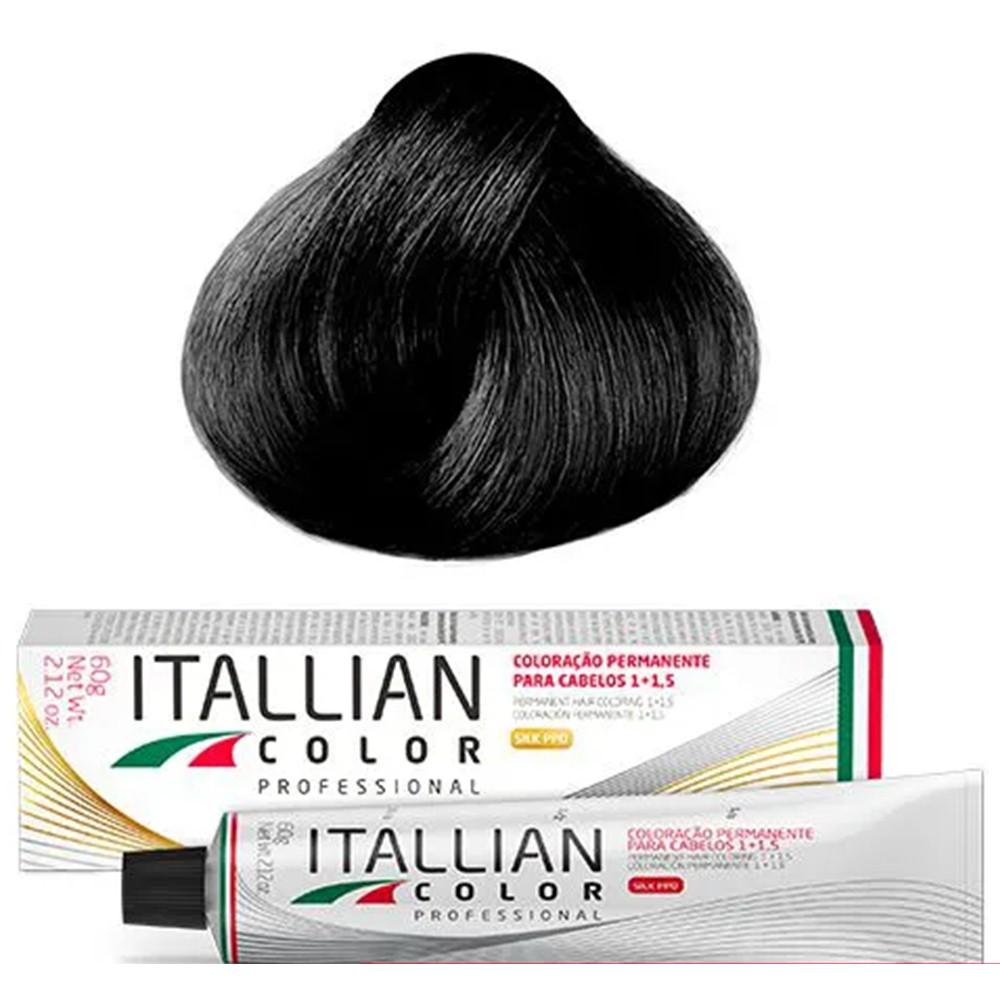 Coloração Profissional Preto 1.0 Itallian Color 60g
