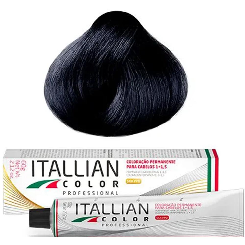 Coloração Profissional Preto Azulado 2.1 (NB) Itallian Color 60g