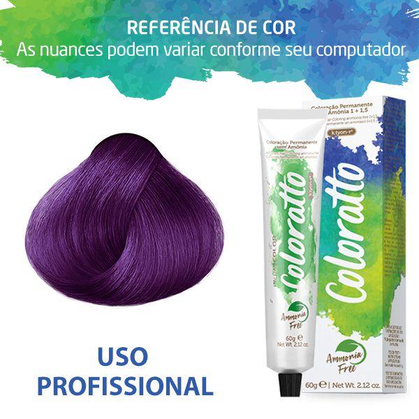 Tonalizante Profissional Purple (roxo) 0.20 Coloratto Itallian Color sem amônia 60g