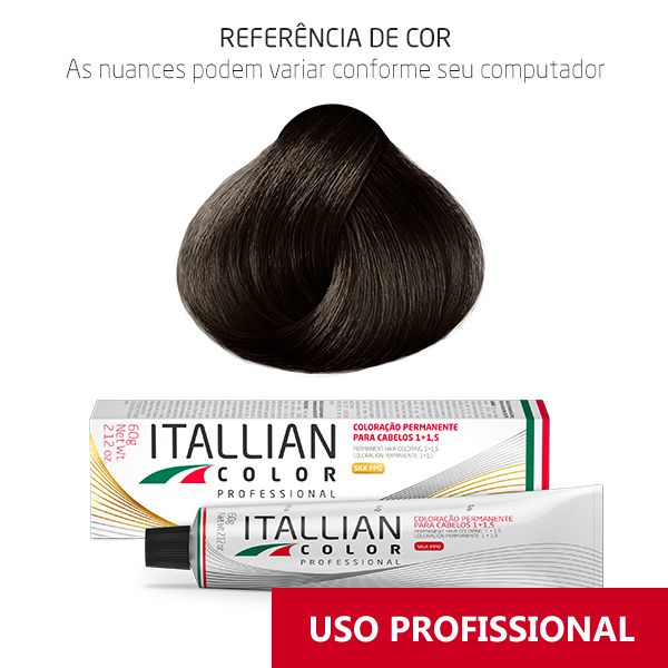 Coloração Profissonal Chocolate 6.7 (67) Itallian Color 60g
