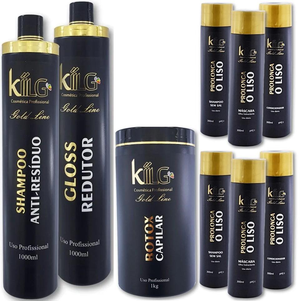 Combo Black Friday Kiilg Progressiva Com Formol + Botox + Dois Kit Manutenção
