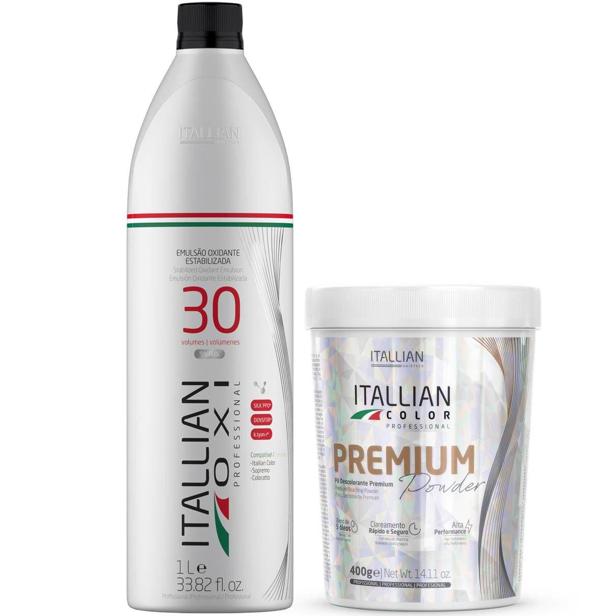 Combo Itallian: Oxidantes e Pó descolorante Premium