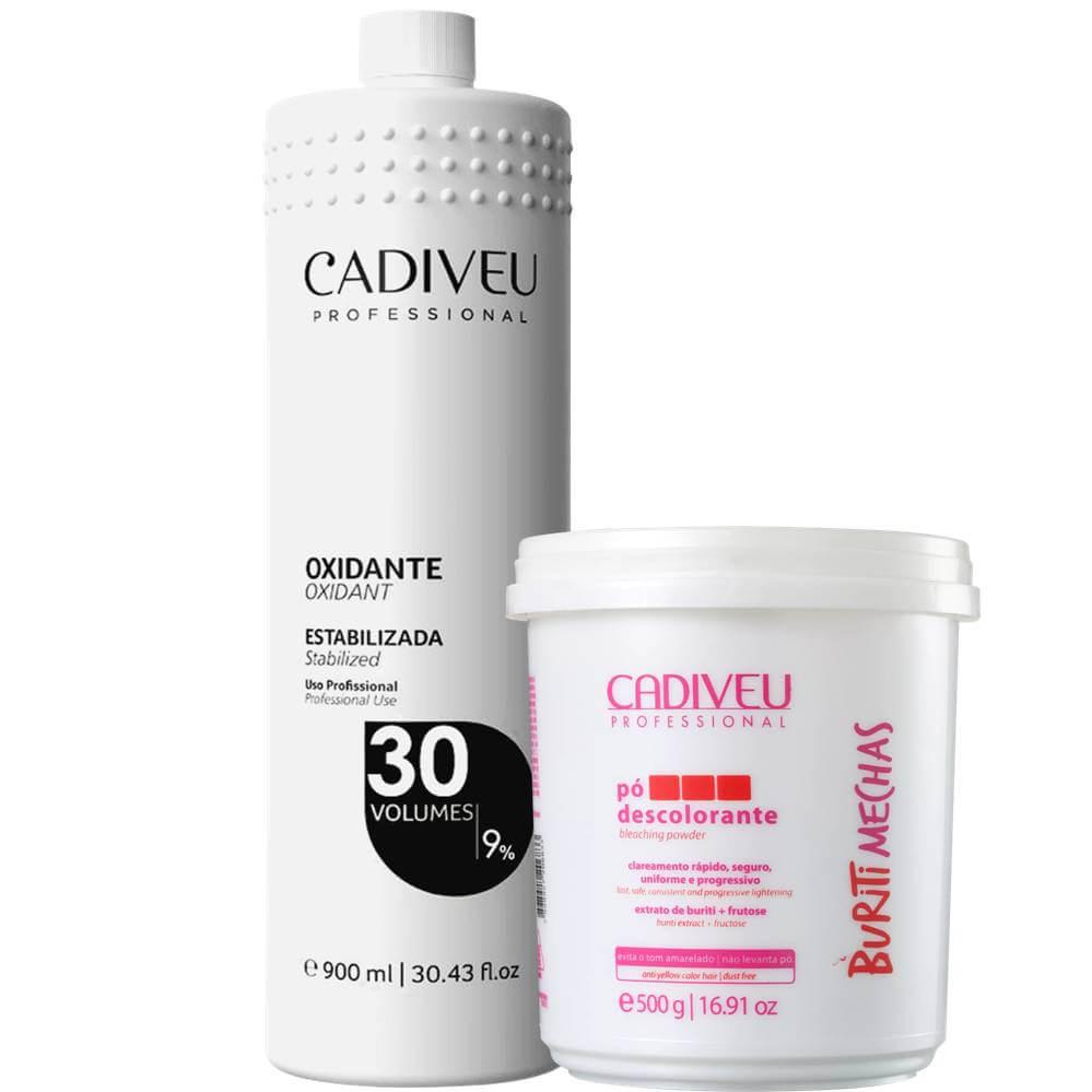 Combo: Pó Descolorante Cadiveu + Oxidante Cadiveu
