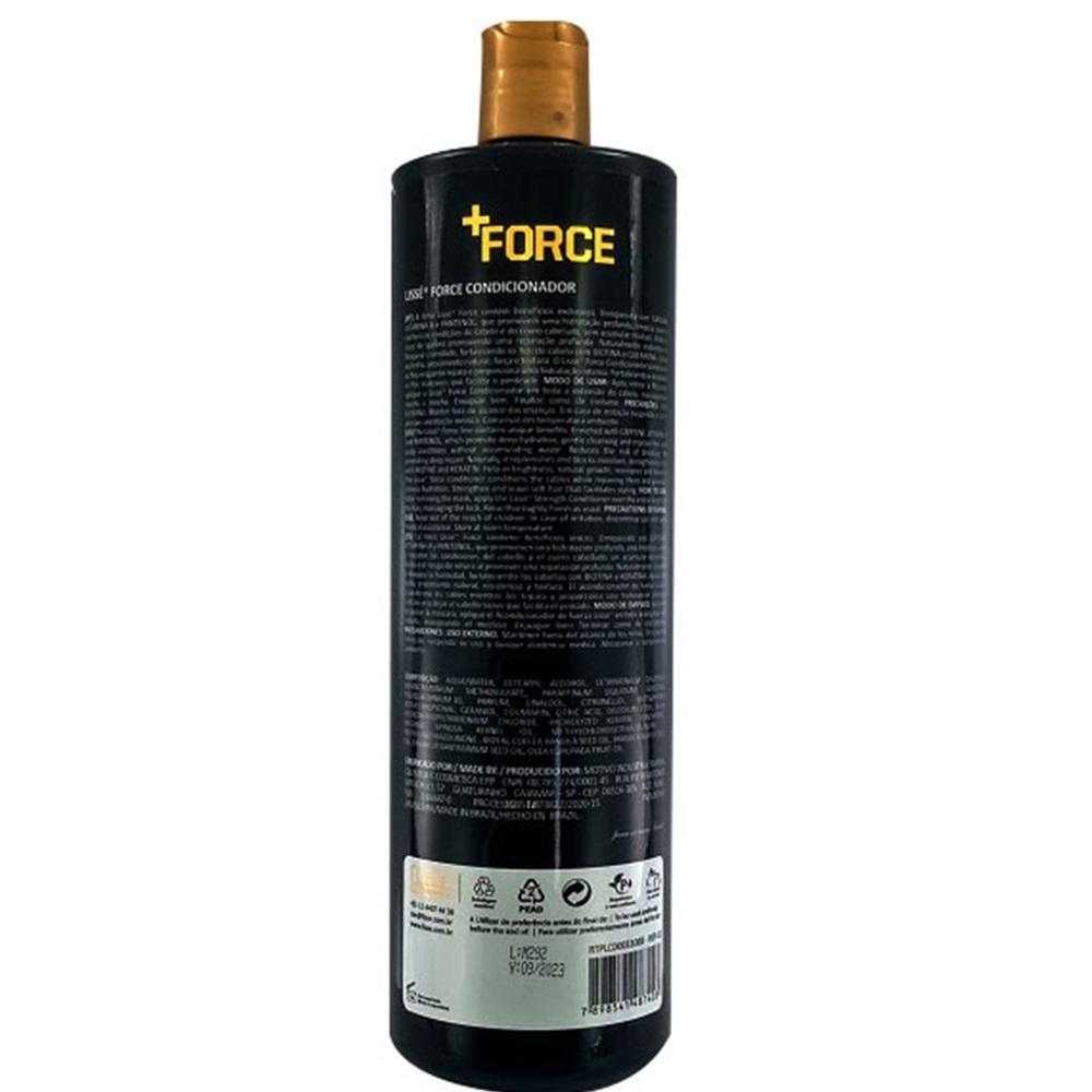 Condicionador +FORCE 1 litro Profissional - Crescimento rápido e saudável dos fios