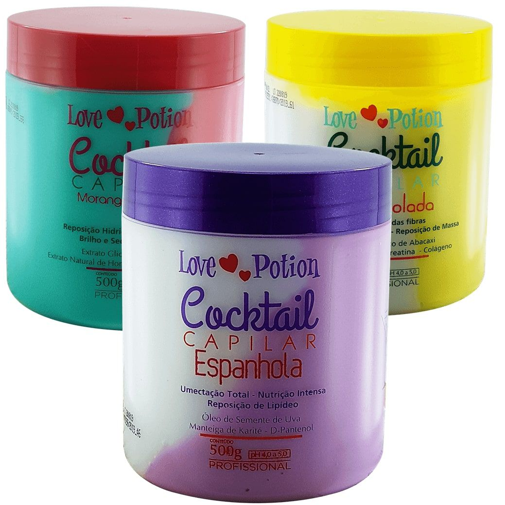 Cronograma Capilar completo Love Potion Cocktail - 3 produtos