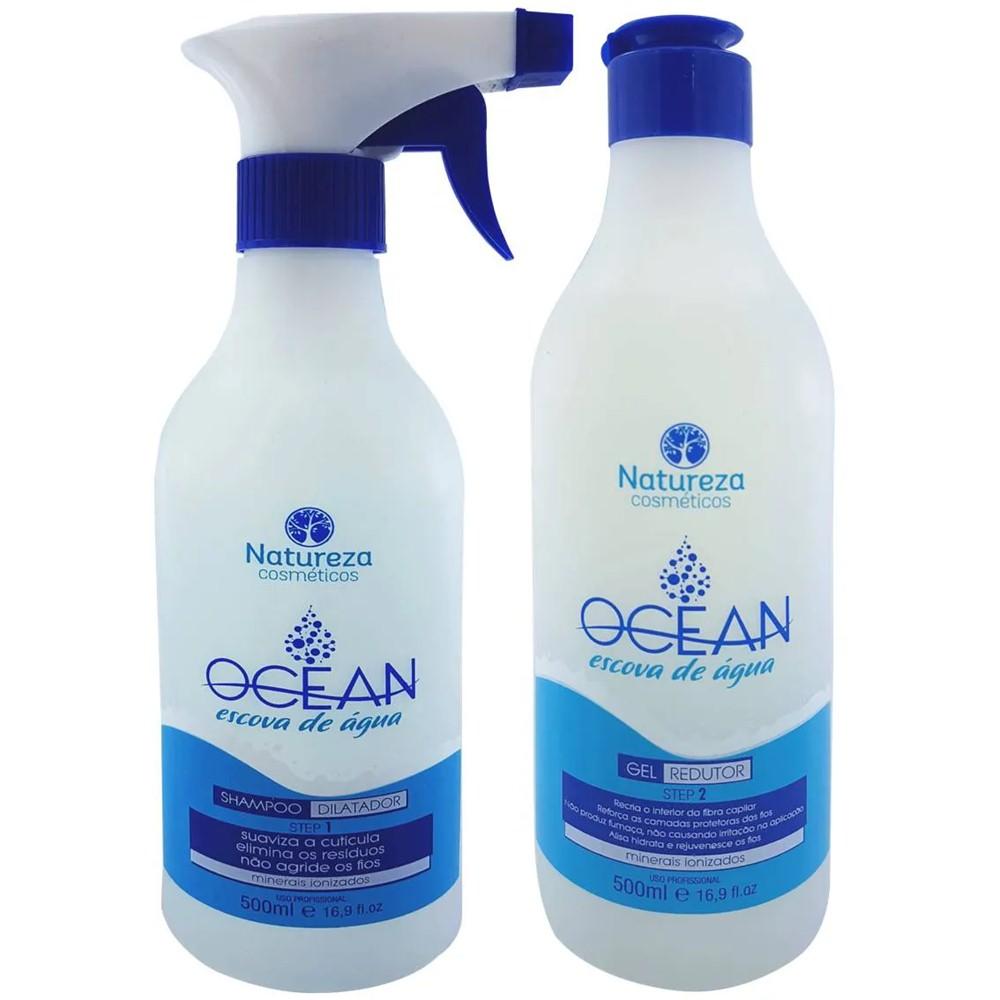 Escova Progressiva de Água Ocean 2x500ml - Natureza Cosméticos
