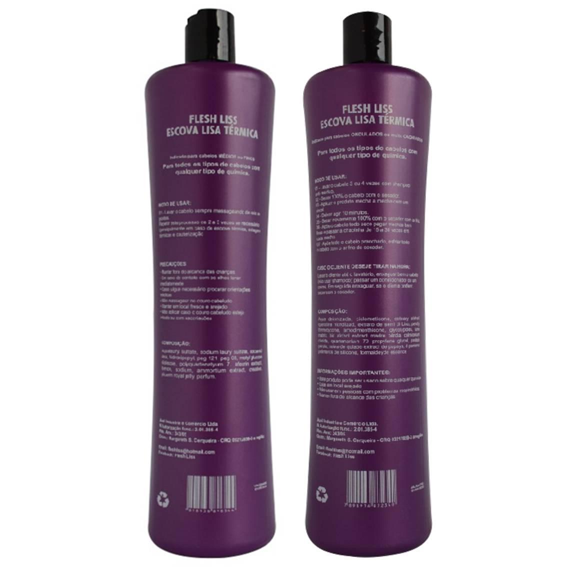 Escova Progressiva Gloss Flesh Liss - Shampoo e Ativo