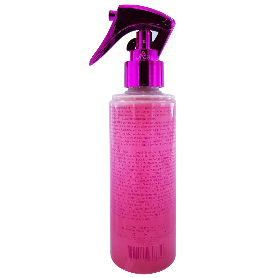 Finalizador Pink Gold Extrato de Pérola 200 ml - Natureza Cosméticos