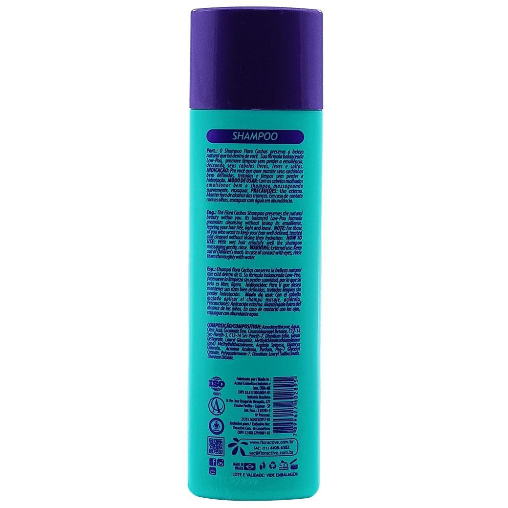 Flora Cachos Shampoo ativador de cachos Floractive 300ml