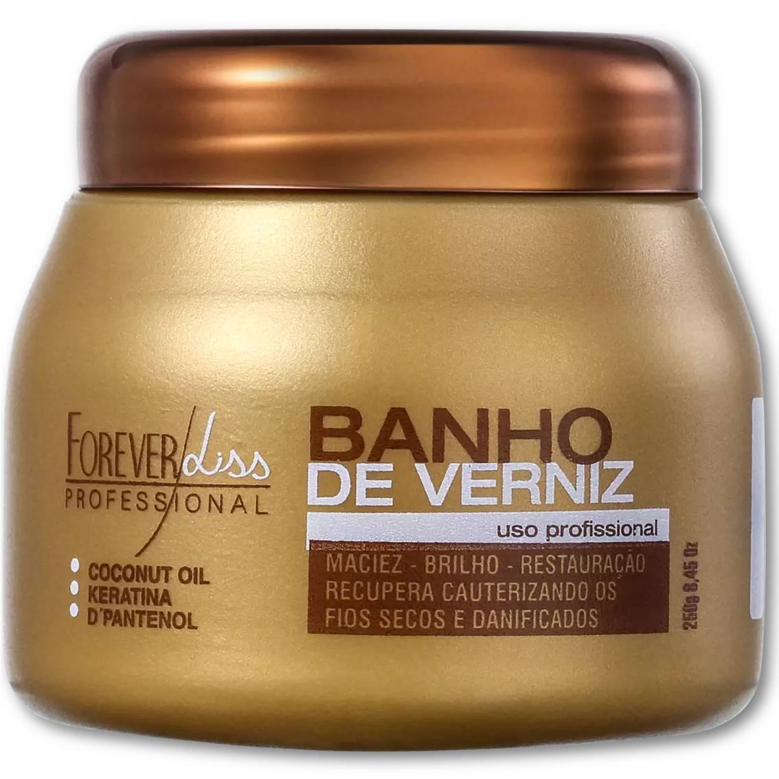 Hidratação Banho De Verniz - Brilho Intenso Forever Liss 250g