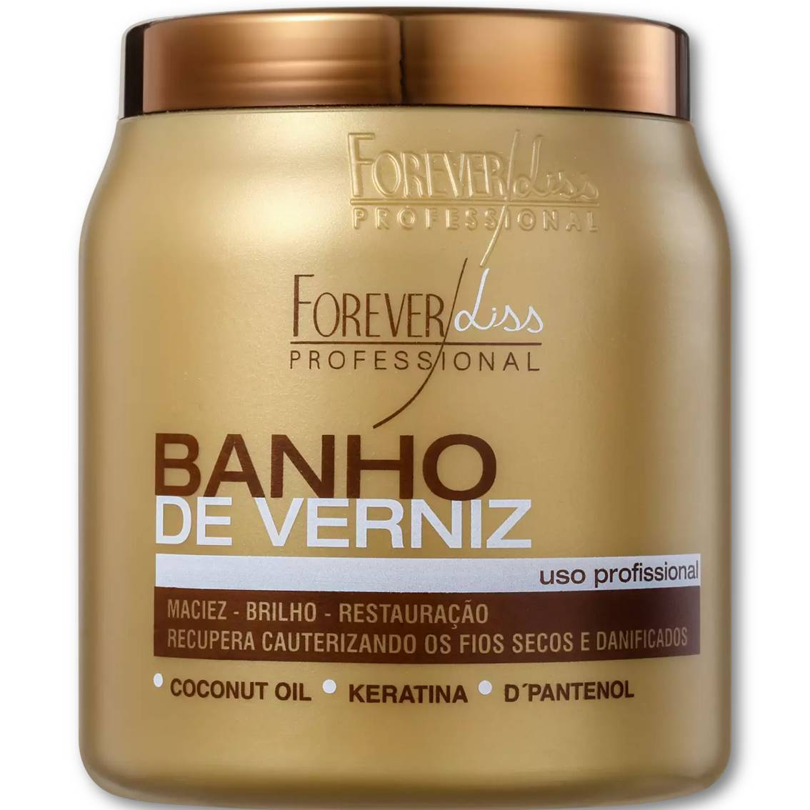 Hidratação Banho De Verniz - Brilho Intenso Forever Liss 950g