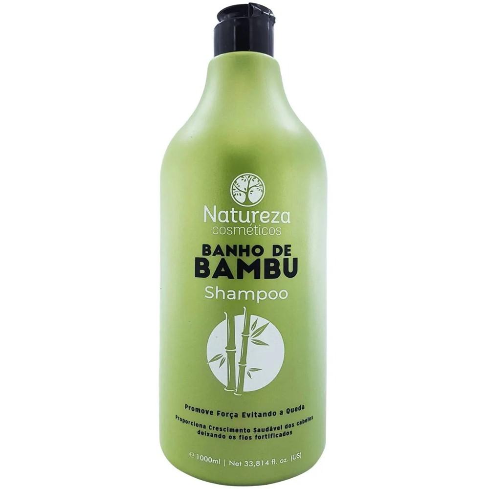 Kit Banho de Bambu Natureza - Shampoo 1 L e Condicionador 1 L