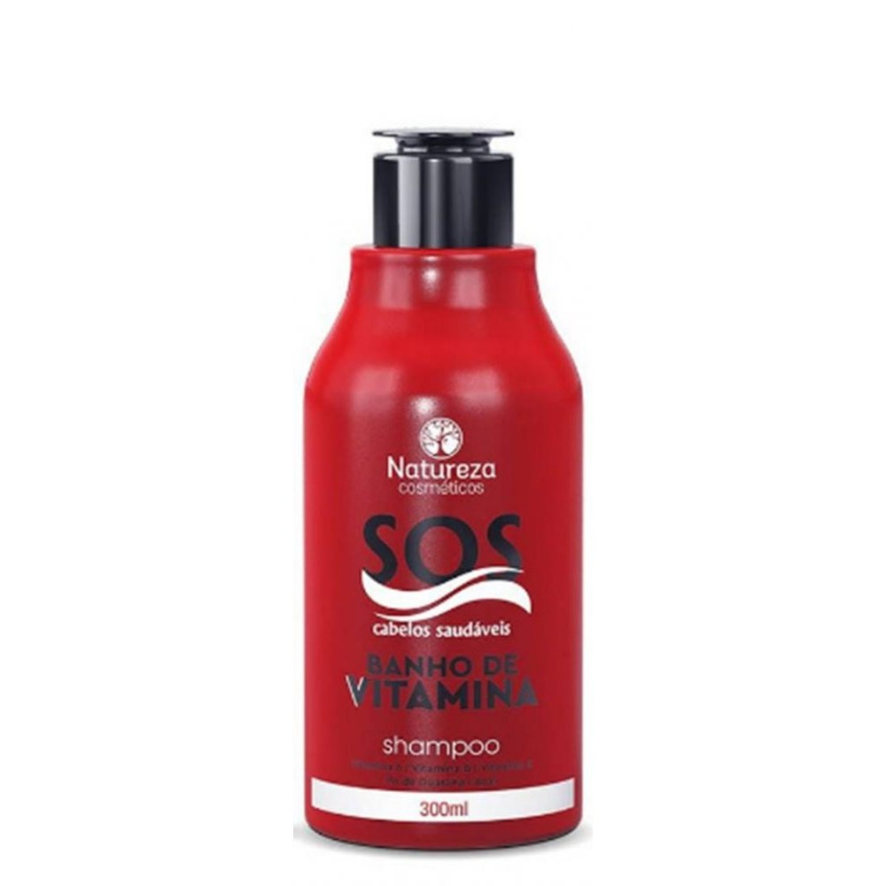 Kit Care SOS Natureza -  Banho de Vitamina - Shampoo + Condicionador + Máscara 3x300ml