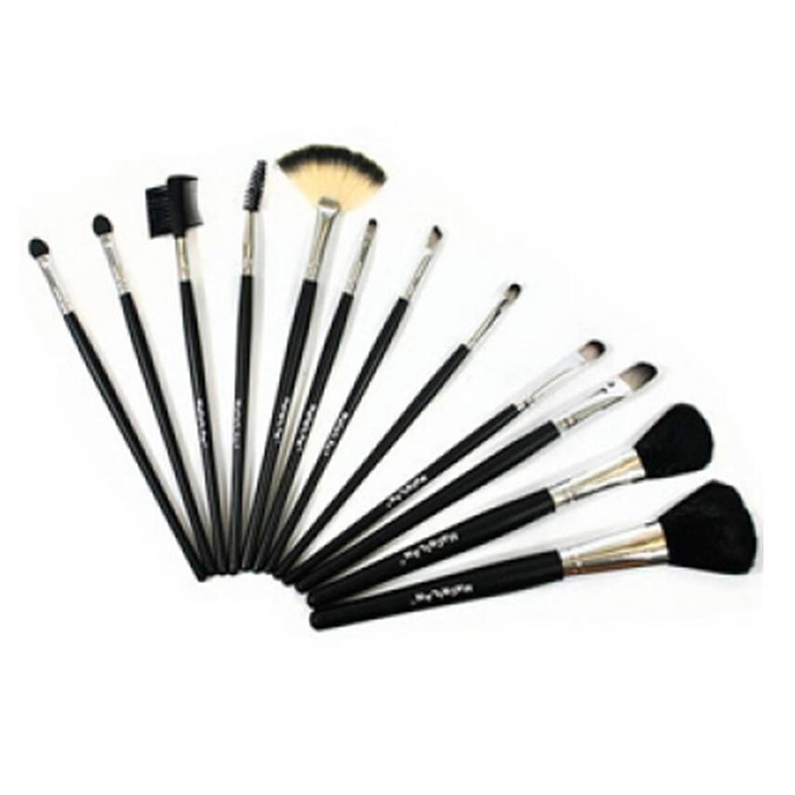 Kit Com 12 Pinceis Profissionais Para Maquiagem - Macrilan