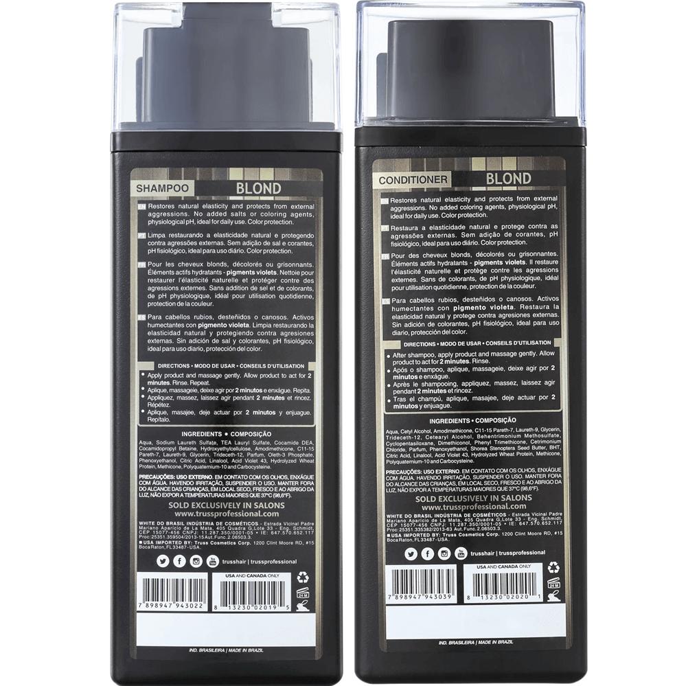 Kit Desamarelador Blond Truss - Shampoo 300 ml + Condicionador 300 ml