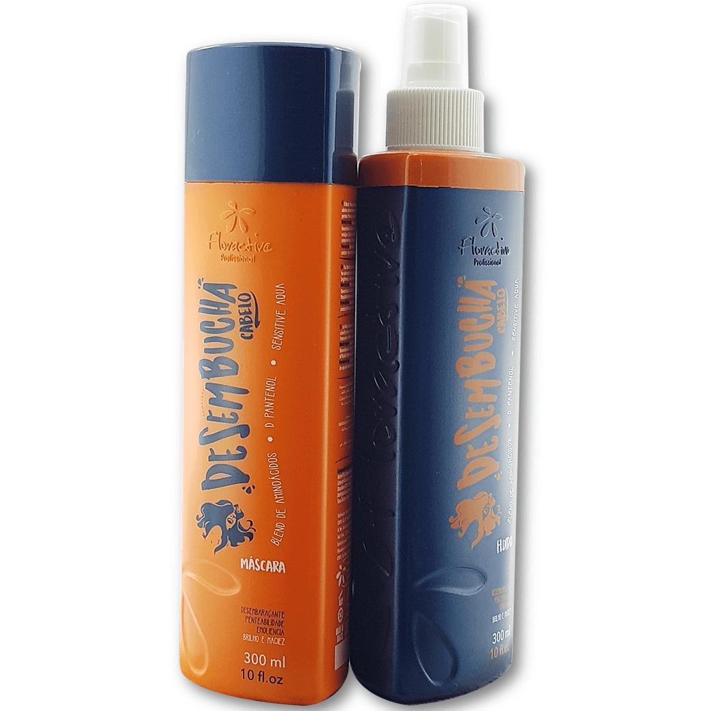 Kit Desembucha Cabelo Floractive  Com Máscara E Fluído De 300 ml