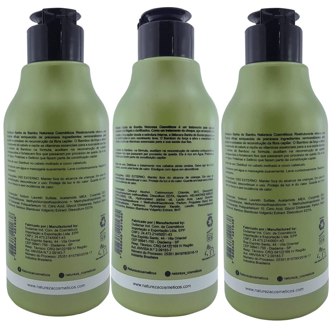 Kit Home Care Banho de Bambu - 3 produtos (3x300 ml)