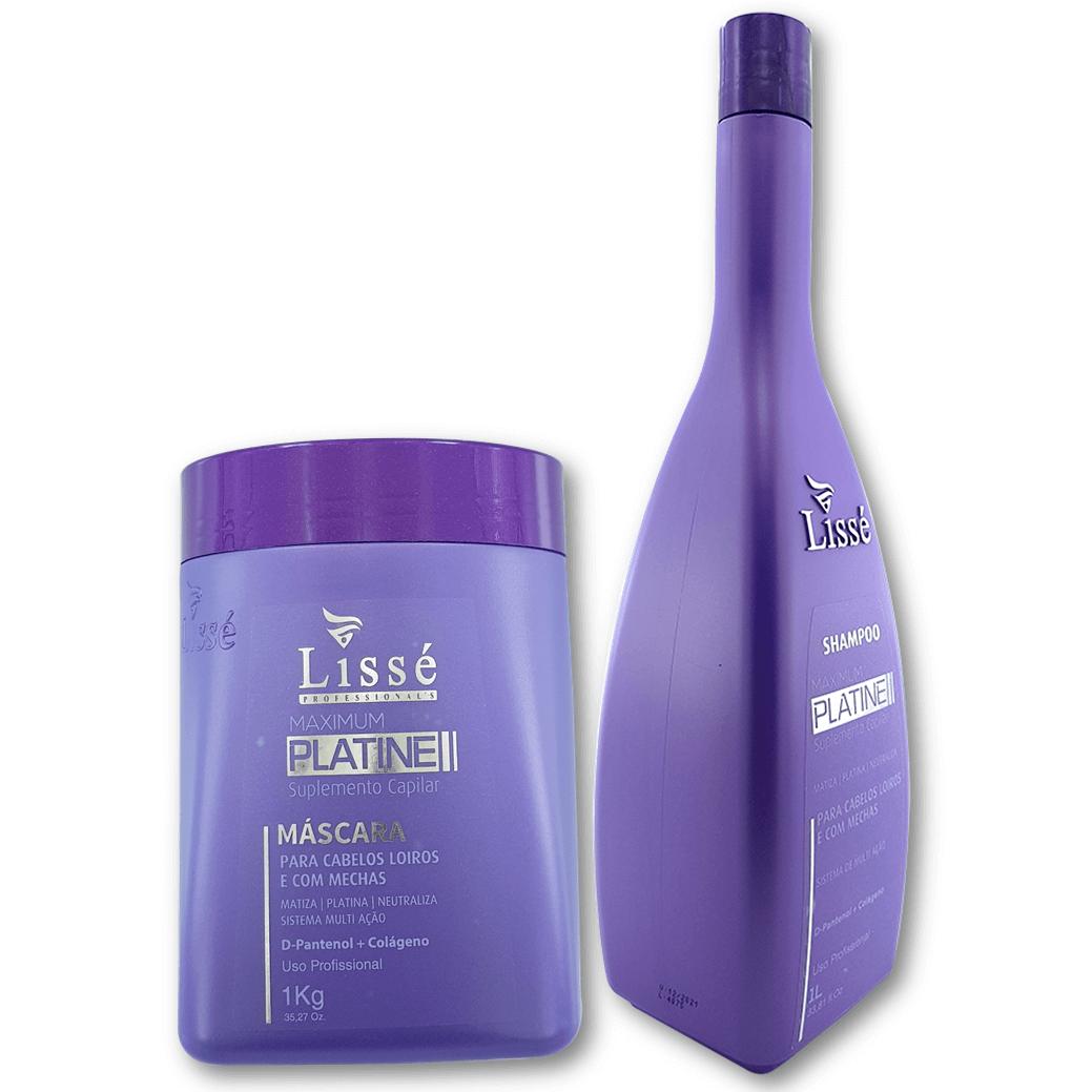 Kit Lissé Matizante Maximum Platine (Shampoo 1litro + Máscara 1kg)