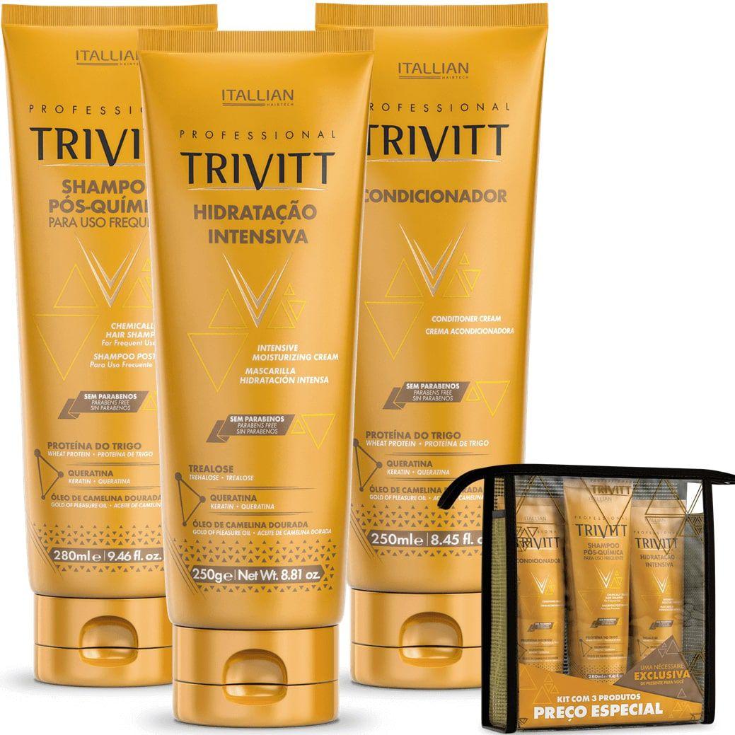 Kit Manutenção Trivitt (shampoo, Condicionador,Mascara)