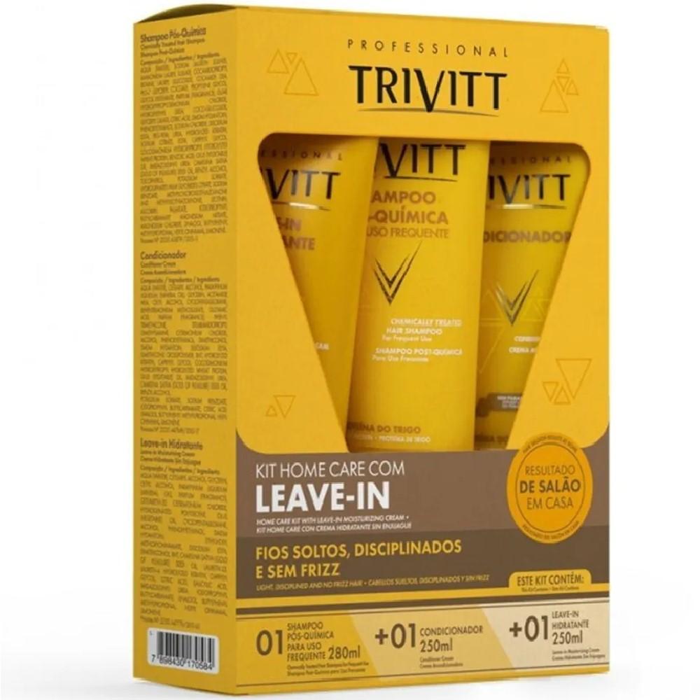 Kit Manutenção Trivitt com Shampoo Condicionador e Leave-in
