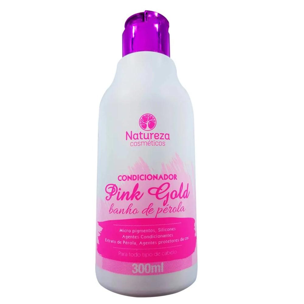 Kit Shampoo e Condicionador Pink Gold 2x300 ml - Natureza Cosméticos