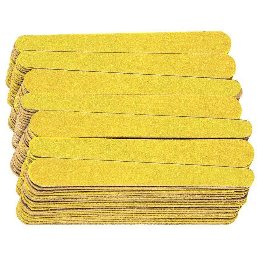 Mini Lixa Canário amarelo para Unhas Com 144 Unidades