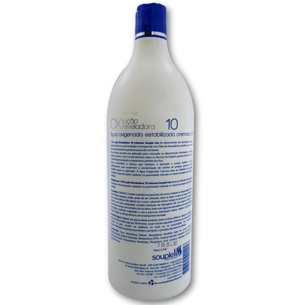 Loção Cremosa Reveladora Ox 10 volumes 900 ml – Souple Liss