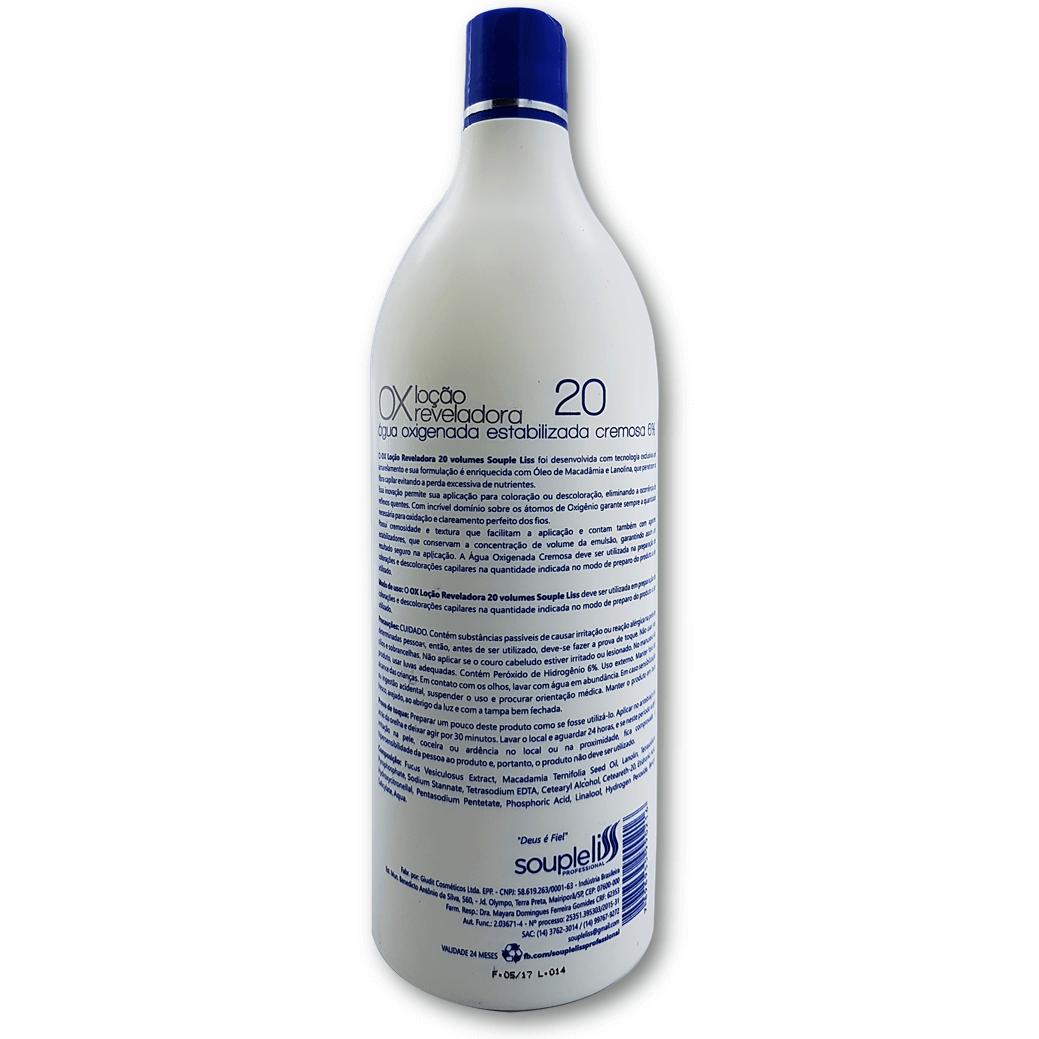 Loção Cremosa Reveladora Ox 20 volumes 900 ml – Souple Liss