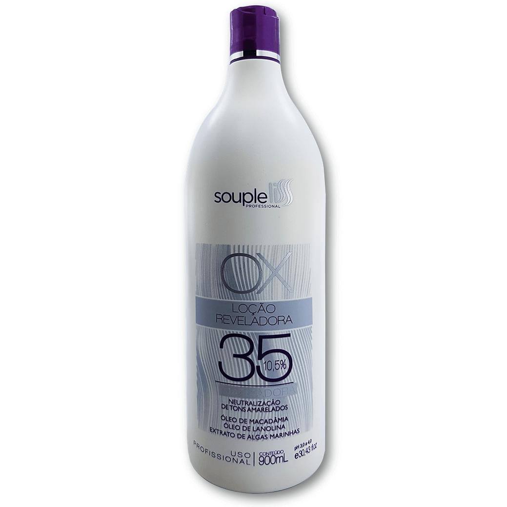 Loção Matizadora Reveladora Cremosa Ox 35 volumes 900 ml - Souple Liss