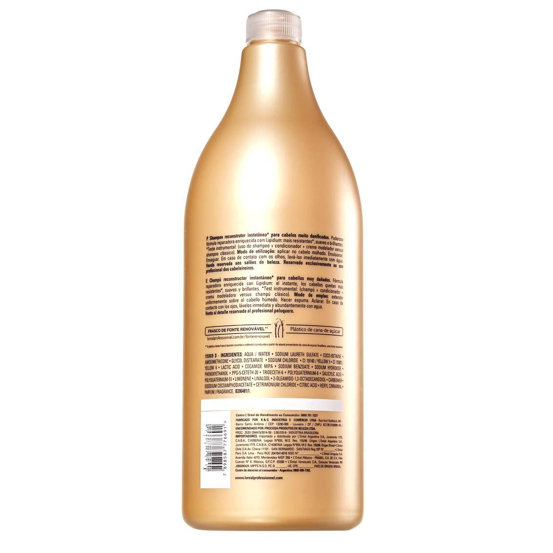 Shampoo Absolut Repair Cortex Lipidium 1500 ml - L'oréal