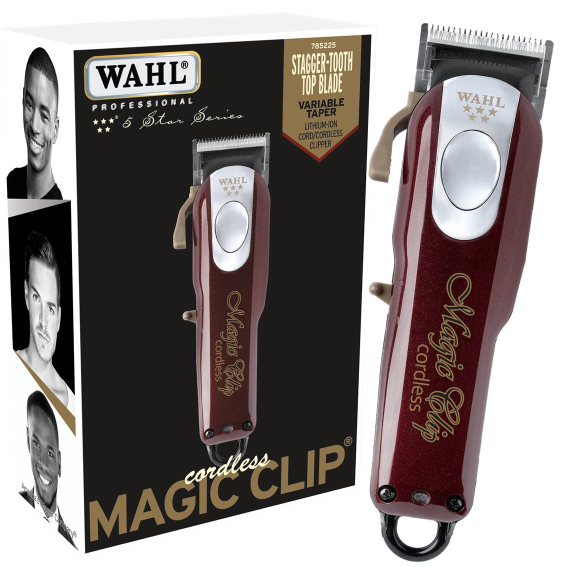 Máquina de corte Magic Clip Cordless 5 estrelas Wahl - Sem fio 110v