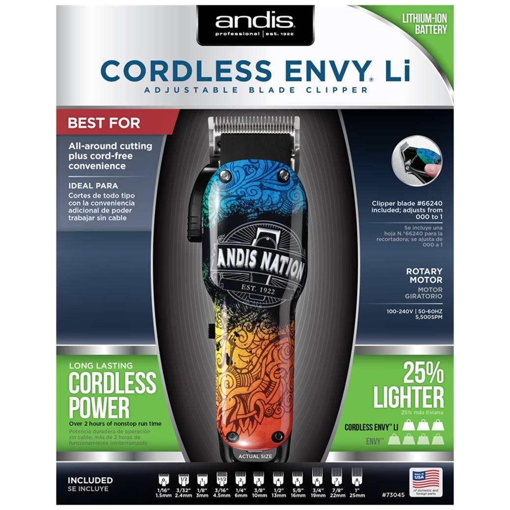 Máquina de Corte Profissional Andis Cordless Envy-Li - Bivolt.