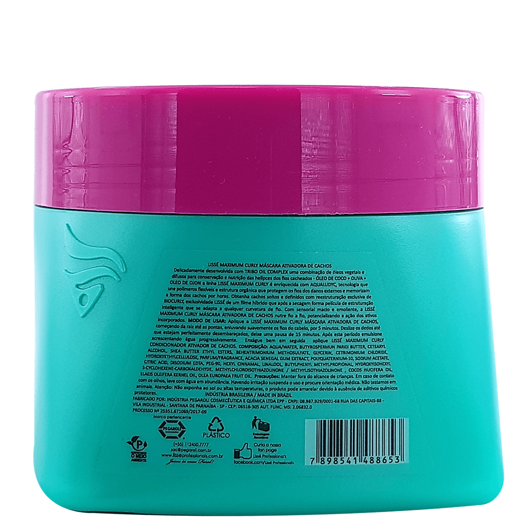 Máscara Ativadora de cachos – Maximum Curly Lissé 500g