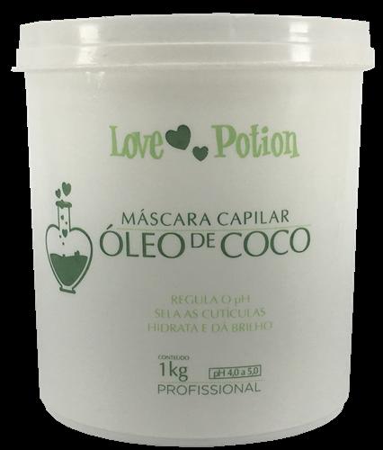 Mascara de Hidratação com Óleo Coco Mega Hidratação Love Potion 1kg