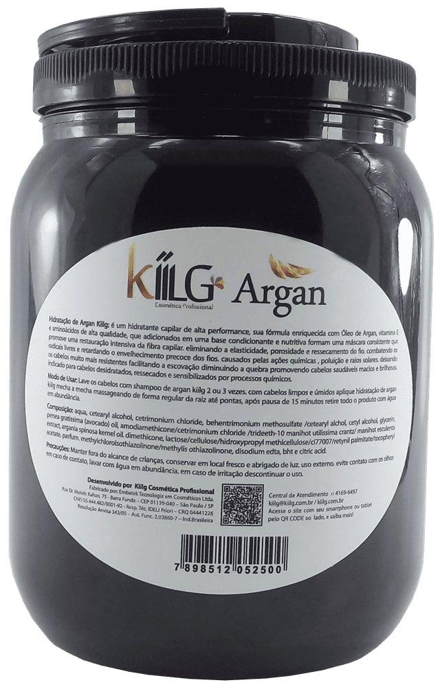 Mascara De Hidratação Intensiva  de Argan Kiilg 1,6 kg  nova embalagem
