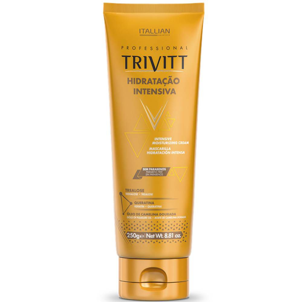 Máscara De Hidratação Intensiva Profissional Trivitt 250gr