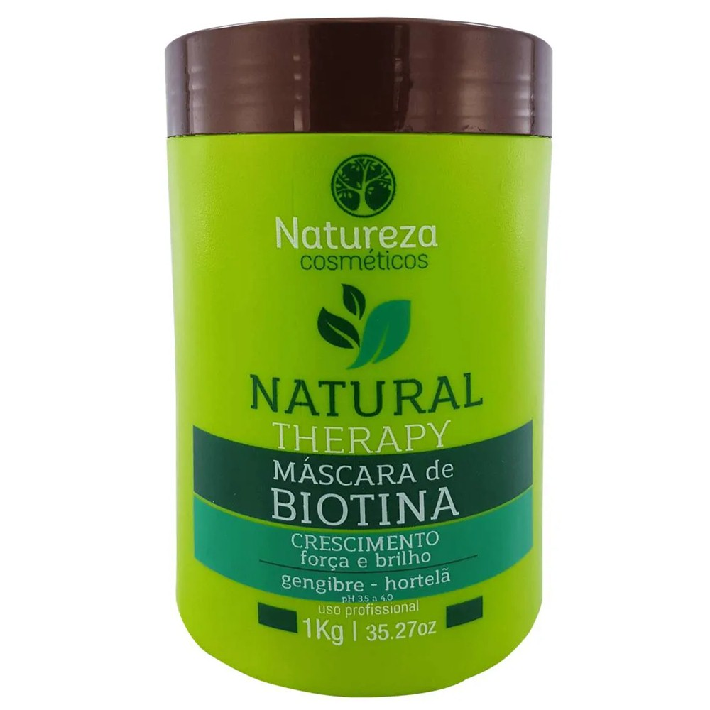 Máscara Hidratação de Biotina orgânica 1 kg Crescimento Força - Natureza Cosméticos