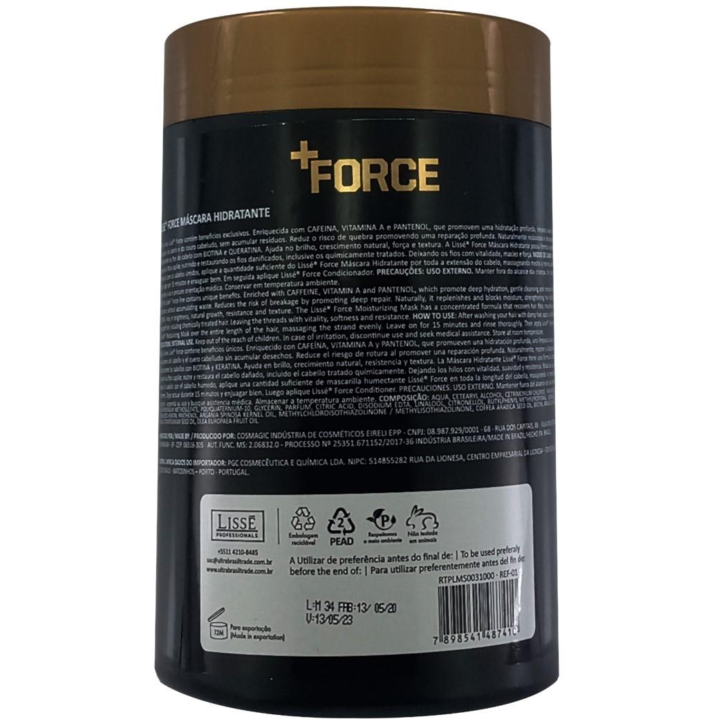 Máscara Hidratante + Force 1KG Lissé - Força e crescimento para seus fios