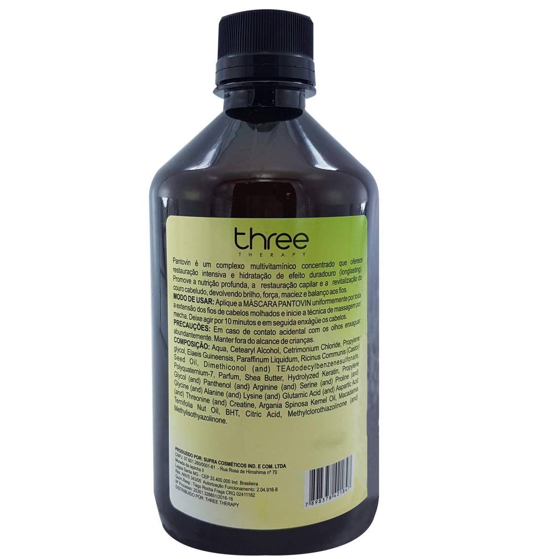 Máscara Hidratante Pantovin 500 ml – Crescimento saudável do fio