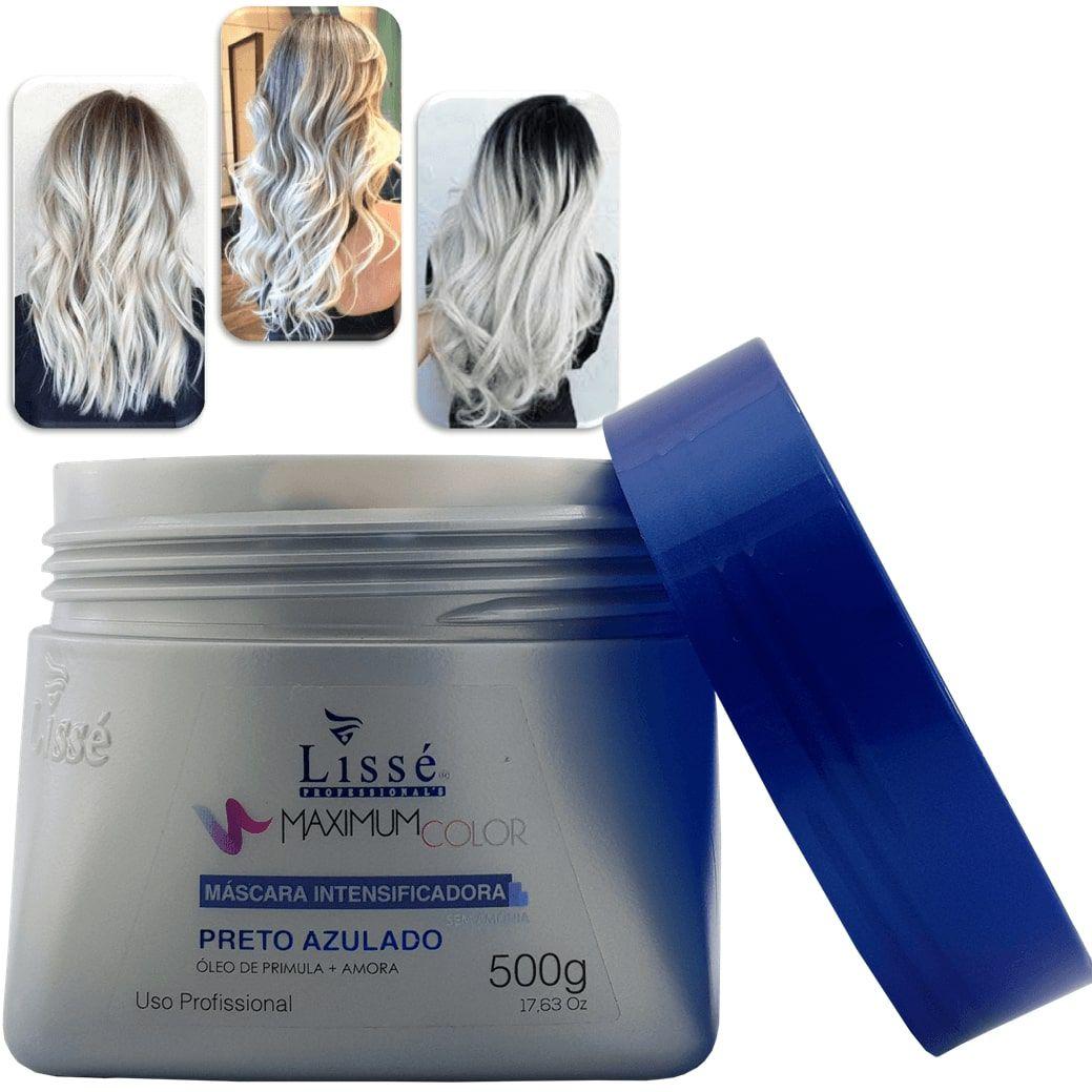 Máscara Intensificadora Maximum Color Lissé – Preto azulado 500g