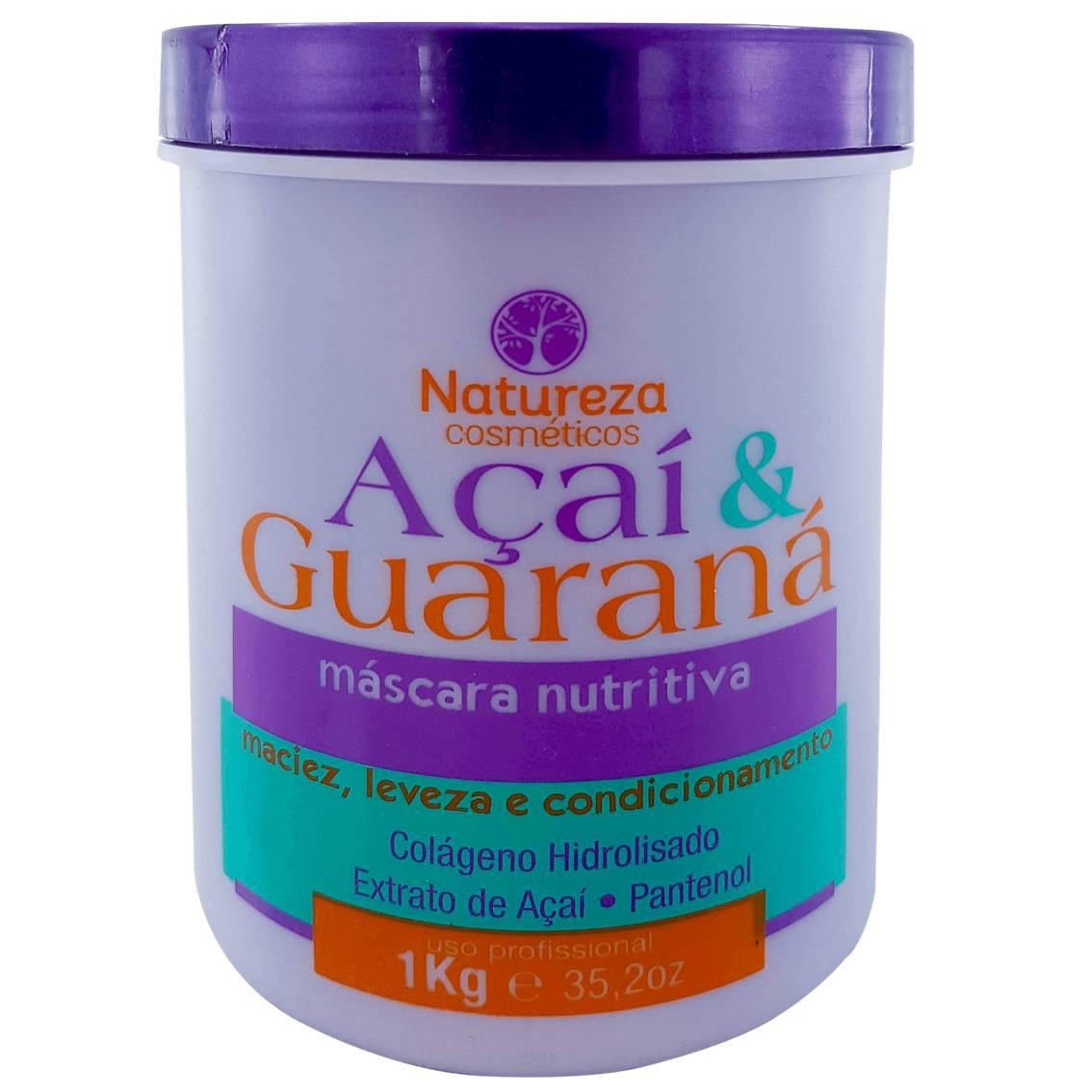 Máscara Nutritiva Açaí e Guaraná 1 kg - Natureza Cosméticos