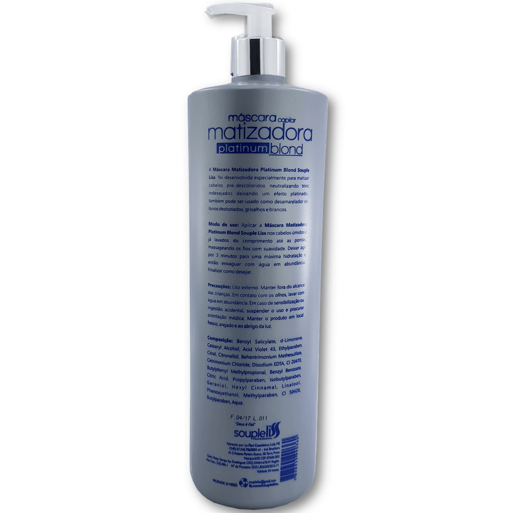 Máscara Platinum Blond Matizadora Souple Liss – Efeito Platinado 1 litro
