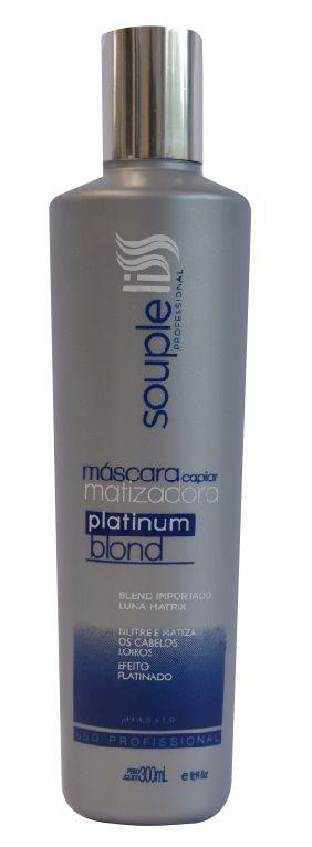 Máscara Platinum Blond Matizadora Souple Liss – Efeito Platinado 300ml
