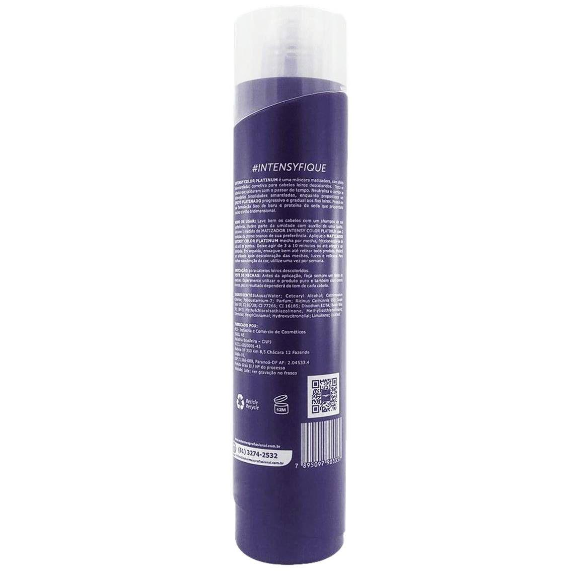 Matizador Intensy Color Platinum Lé Charme's 500 ml - Efeito Platinado